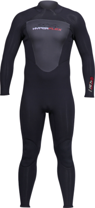 CYCLONE2 BLACK BACK ZIP FULL SUIT